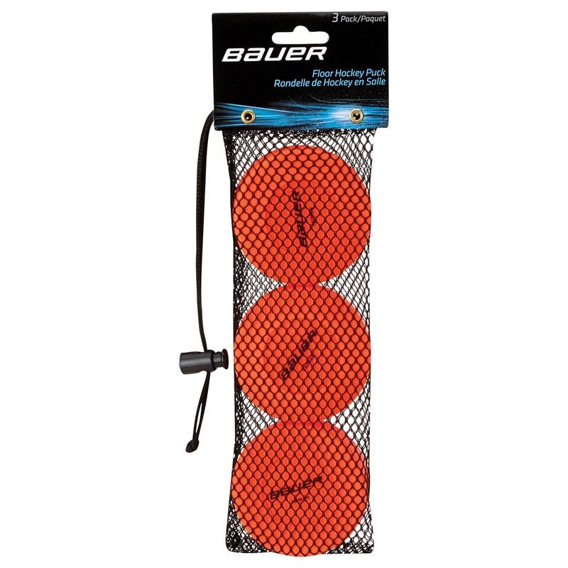 Picture of Bauer Floor Hockey Puck - orange - 3er Pack