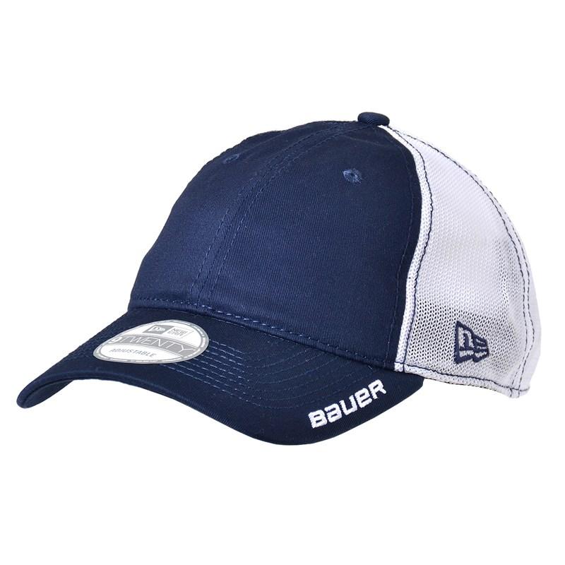 56a467a8a Bauer New Era 9Twenty Adjustable Meshback Navy Cap Senior - Hockey ...