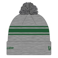 Изображение Вязаная шерстяная шапка Bauer New Era Striped Pom Pom - grey/green Sr (взрослый)