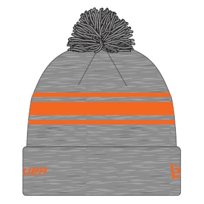 Picture of Bauer New Era Striped Pom Pom - grey/orange