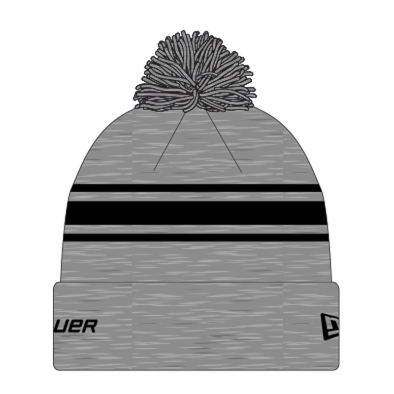 Bild von Bauer New Era Striped Pom Pom - grey/black