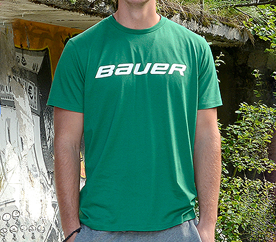 Picture of Bauer Core Short Sleeve Tee Shirt Green Senior