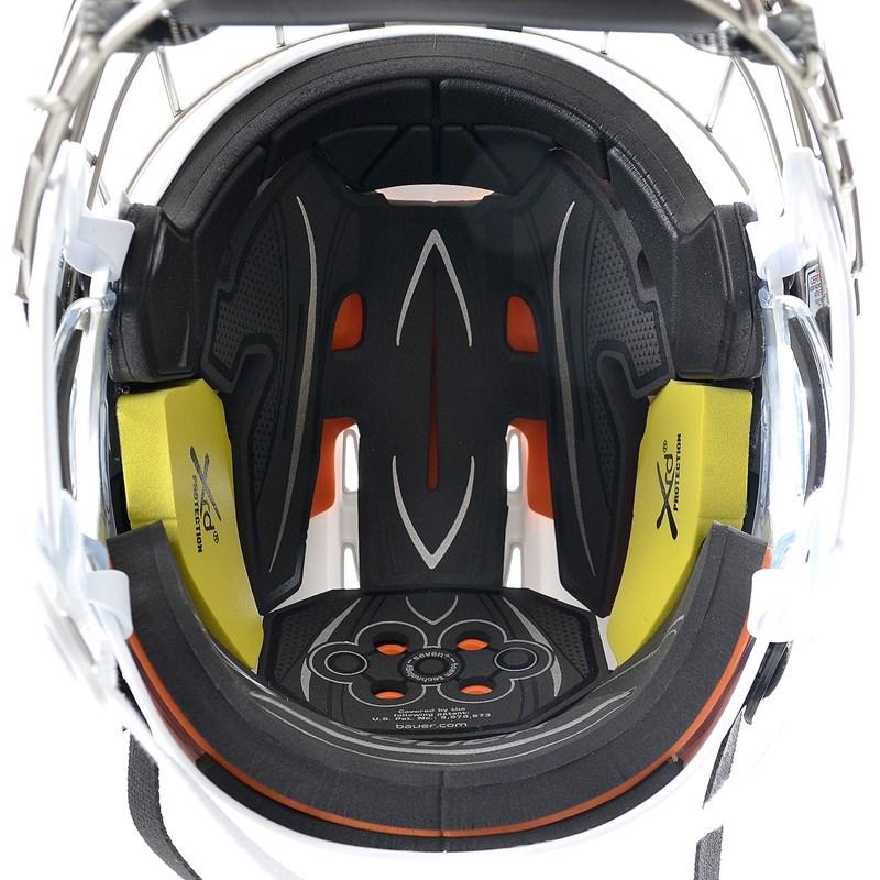 Bild von Bauer RE-AKT 75 Helm Combo (incl. Gitter) - weiß